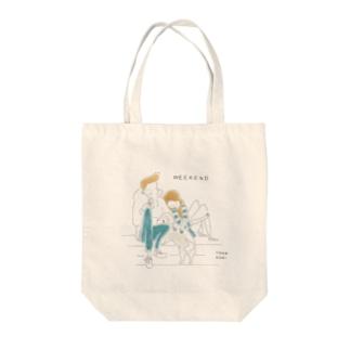 WEEKEND(Color) Tote bags