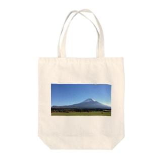 ゆるキャン△聖地ふもとっぱらフォトTシャツ Tote bags