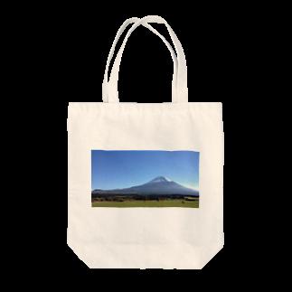 まるみなのゆるキャン△聖地ふもとっぱらフォトTシャツ Tote bags