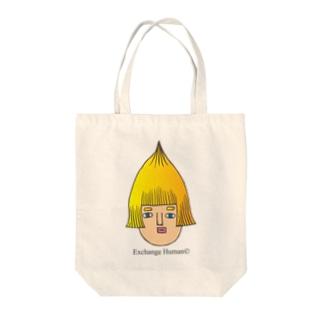 とんがりコビート Tote bags
