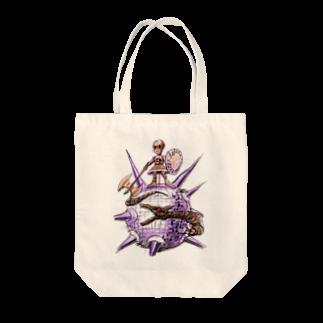 ヤノベケンジアーカイブ&コミュニティのヤノベケンジ《ザ・スター・アンガー》 (戦う少女)Tシャツ トートバッグ