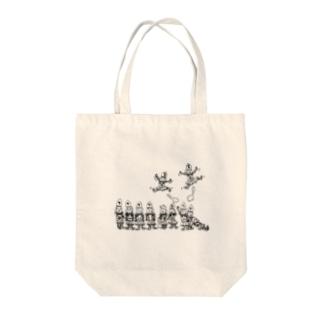将棋の歩と桂馬らへん Tote bags