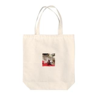 荒れた犬 Tote bags