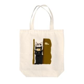 朝ごはんまえの猫 トートバッグ