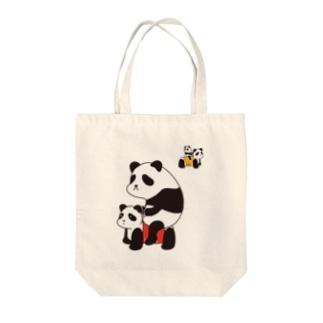 パンダカー Tote bags