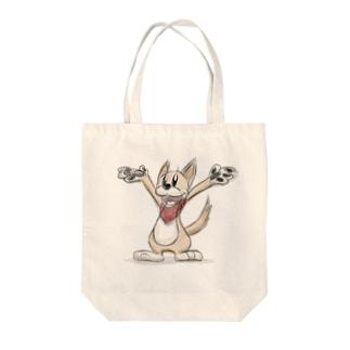 ドローイング・クッキー Tote bags
