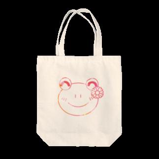 あゆ@ LINEスタンプ発売中のマーブルなかえるさん Tote bags