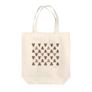 モノグラム(クマ) Tote bags