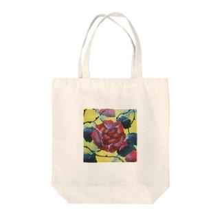ガラスと薔薇 Tote bags