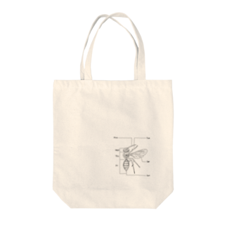 I'm not a robotのBee  Tote bags