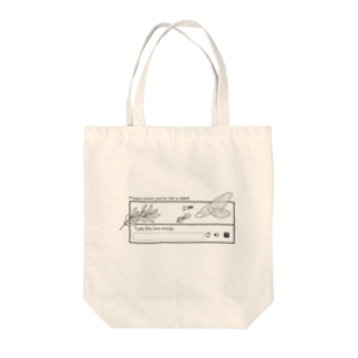 I'm not a robot Tote bags