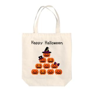【ハロウィン】 カボチャ★ピラミッド Tote bags