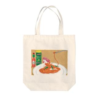 ナポリタンガール Tote bags