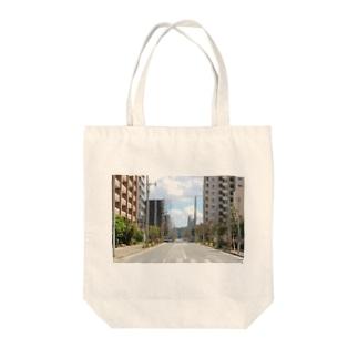 九大学研都市側 Tote bags