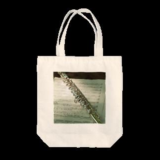 y.shioriのフルートと楽譜 Tote bags