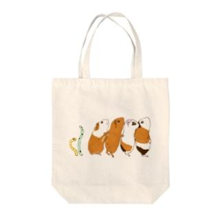 チンアナゴとチンアナゴモルモット Tote bags