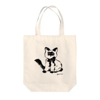 不機嫌なネコ トートバッグ