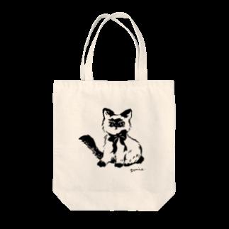 ponieの不機嫌なネコ トートバッグ