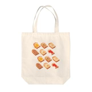 朝食トースト Tote bags
