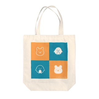 「ナンちゃん&ホクさん の二色トートバッグ」 Tote bags