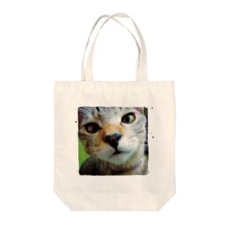 V2FAV CAT TI SUQUARE Tote bags