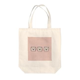 くまくまくま Tote bags