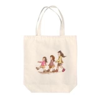 くまぱんち3姉妹 Tote bags