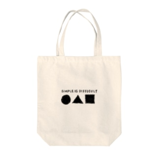 SIMPLE IS DIFFICULT Tote bags