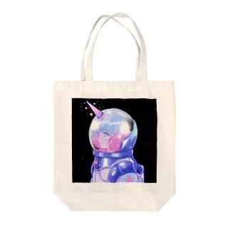 ユニコーンちゃん Tote bags