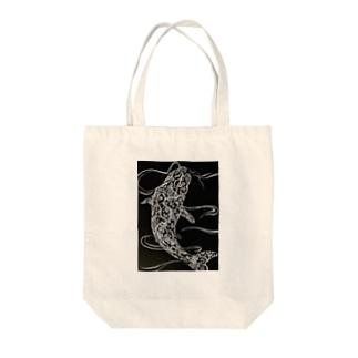 鯉 ペイズリー柄 Tote bags