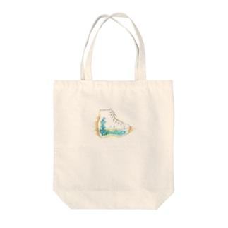 プラットホームシューズ Tote bags