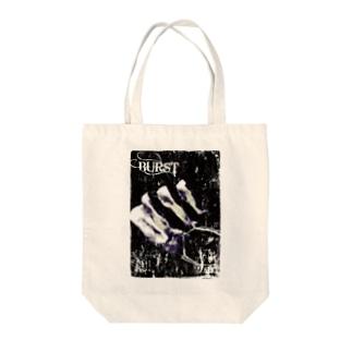 バースト Tote bags