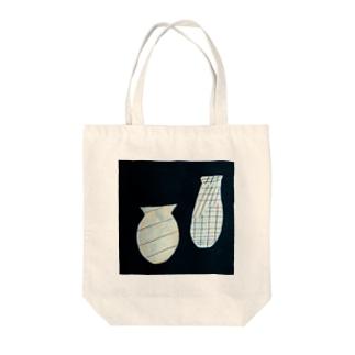線を持つ花瓶たち Tote bags
