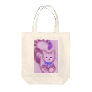 うれいねこ Tote bags