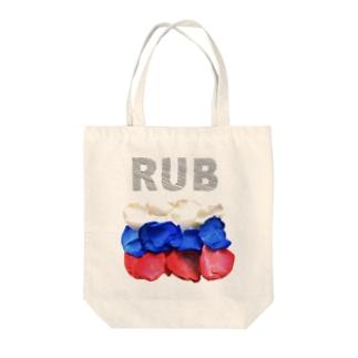Flowerflag of Russia Tote bags