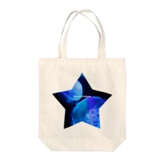 星と海月 Tote bags
