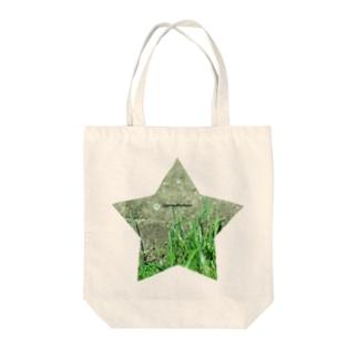 星と草と階段 Tote bags