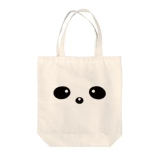 ぱんだのかお Tote bags