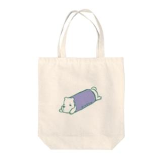 ロールクマ Tote bags