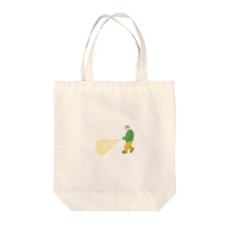 懐中電灯の人 Tote bags