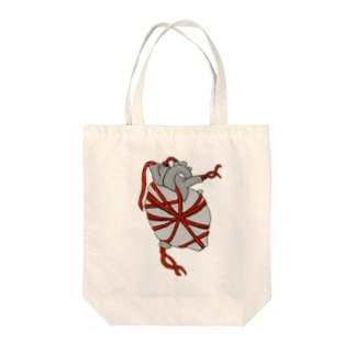 Tie my heart up Tote bags