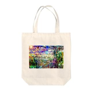 Web Color City Tote bags