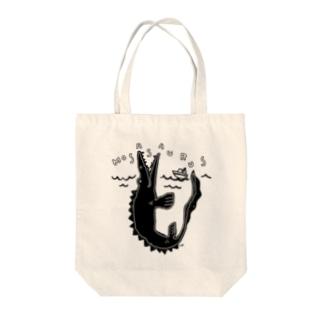 ゆるいモササウルス Tote bags