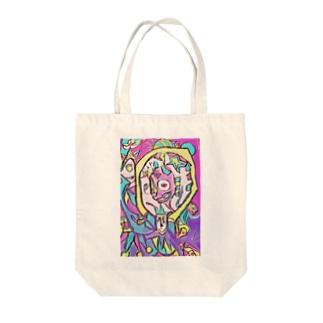 ステンドグラスチックな道化 Tote bags