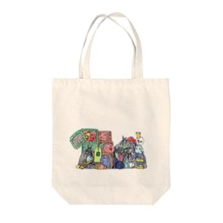 ゴミ捨て場 Tote bags