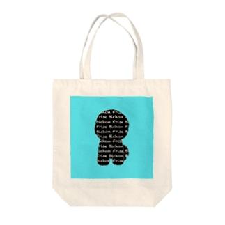 ロゴビション ブラック&ブルー Tote bags
