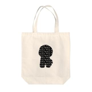 ロゴビション ブラック&ホワイト Tote bags