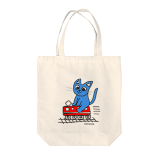 Official GOODS Shopの赤電のりてつニャーンコ Tote bags