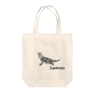 フトアゴヒゲトカゲ Tote bags
