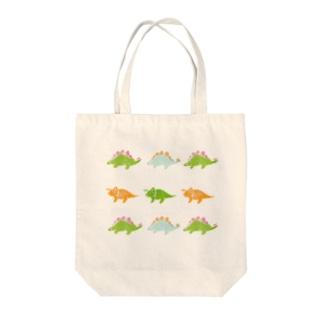 恐竜はんこ Tote bags
